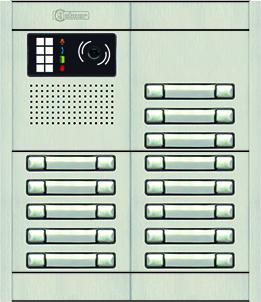 Paneles de video portero con pulsadores modelo NEXA